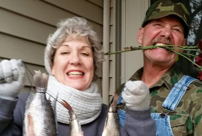 Ole And Lena With Fish 2