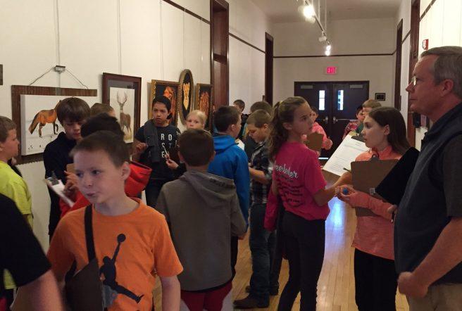 Stillson 5Th Graders At Spring Art Show 1